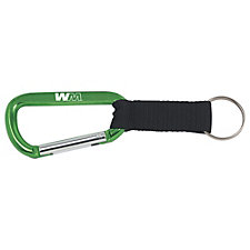 8mm Aluminum Carabiner with Strap