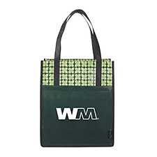 Laminated Non-Woven Big Grocery Tote - 15 in. H x 13 in. W x 10 in. D SHIPS FROM CANADA