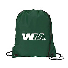 Nylon Drawstring Sport Bag - 14 in. W x 16.5 in. H