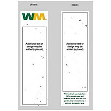 Grow-A-Note Seed Paper Bookmark - 2 in. x 7 in.