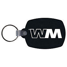Recycled Tires Barrel Shape Key Fob - 1.5 x 2.125