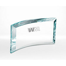 Applause Glass Award - 9 in. W x 5 in. H x 1.625 in. D