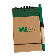 Eco Pocket Jotter with Pen - 3 in. x 5 in.