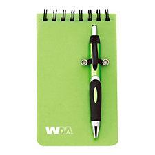Mini Helix Jotter and Pen - 3 in. x 5 in.