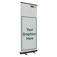 Economy Retractor Banner Display Kit - 31 in.