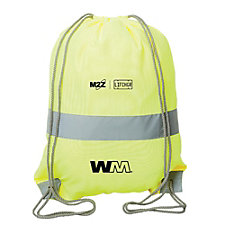 High-Viz Safety Drawstring Backpack - M2Z