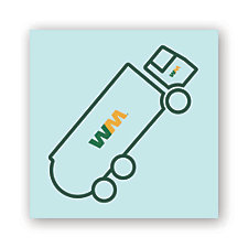 Garbage Truck Tattoo - 1.5 in. x 1.5 in.