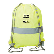 Safety Drawstring Backpack - 15 in. x 19 in. - Top Gun