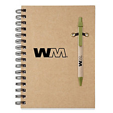 ECO Notebook with Ecologist Pen - 5.75 in. x 8.25 in.