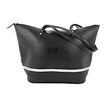 Iconic Metallic Accent Tote - 12 in. H x 18 in. W x 7 in. D