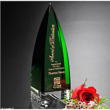 Culmination Emerald Crystal Award - 10 in.