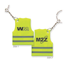 Reflective Safety Vest Keytag - M2Z