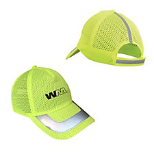 OccuNomix Mesh High Visibility Baseball Hat with Reflective Striping