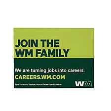 Corrugated Plastic Sign - Double-Sided - 24 in. x 18 in. - Join the WM Family