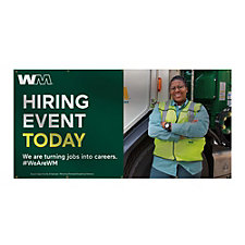 Smooth Vinyl Banner - Single-Sided - 4 ft. x 8 ft. - Hiring Event Today