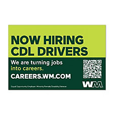 Truck Magnet - 3 ft. x 2 ft. - Now Hiring CDL Drivers