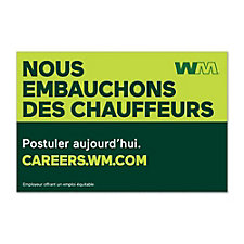 Truck Magnet - 3 ft. x 2 ft. - WM Now Hiring Drivers - French