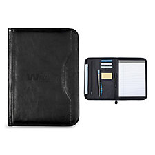 Wall Street Zippered Padfolio - 10.25 in. W x 13.75 in. H  - Ships in 48 Hours