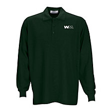 Long Sleeve Soft-Blend Double-Tuck Pique Polo Shirt SHIPS FROM CANADA
