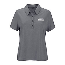 Ladies Vansport Micro Melange Polo Shirt SHIPS FROM CANADA