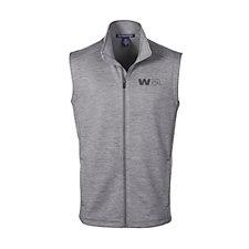 Devon & Jones Mens Newbury Melange Fleece Vest