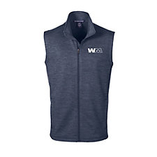 Devon & Jones Mens Newbury Melange Fleece Vest