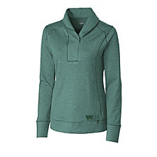 Cutter & Buck DryTec Ladies Shoreline Half Zip Pullover