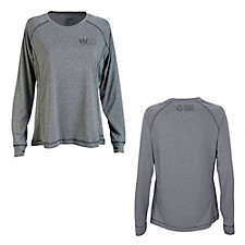 Ladies Vansport Long Sleeve Melange Tech T-Shirt - Recycling Warrior