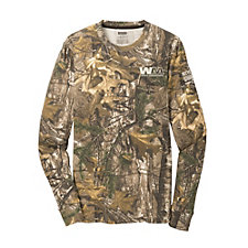 Russell Outdoors Realtree Long Sleeve Explorer 100% Cotton T-Shirt with Pocket - Recycling Warrior