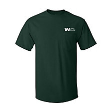 Hanes Tagless 100% Cotton T-Shirt with Pocket