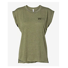 Bella Canvas Ladies Flowy Muscle T-Shirt with Rolled Cuffs