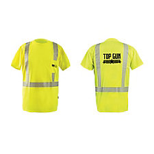 OccuNomix Segmented Flexible Reflective High Viz T-Shirt - Top Gun