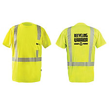 OccuNomix Segmented Flexible Reflective High Viz T-Shirt - Recycling Warrior