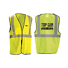 OccuNomix 5 Point Breakaway ANSI Class 2 Safety Vest - Dual Sized - Top Gun