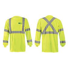 OccuNomix X-Back Long Sleeve 3.8 oz. Birdseye Pocket T-Shirt