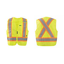 OccuNomix X-Back 4 Point Breakaway Safety Vest with Quick Release Zipper