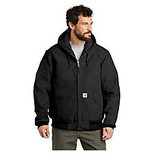 Carhartt Quilted-Flannel-Lined Duck Active Jacket