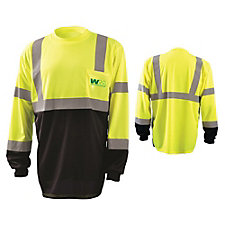 Long Sleeve Black Bottom ANSI CL 3 Hi Viz Shirt