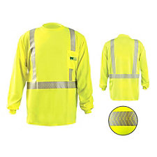 Long Sleeve Cl 2 Hi Viz Shirt Segmented Reflective