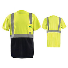 Short Sleeve Black Bottom ANSI CL 2 Hi Viz Shirt