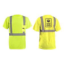 OccuNomix Lightweight Birdseye Pocket T-Shirt - 3.8 oz. -  HTWS