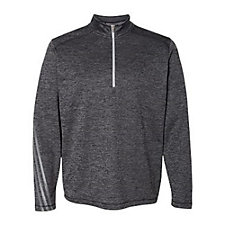 Ladies Adidas Brushed Terry Heathered Quarter Zip