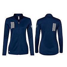 Adidas Ladies 3-Stripes Double Knit Full-Zip Jacket - WMPO