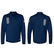 Adidas 3-Stripes Double Knit Quarter-Zip Pullover - WMPO