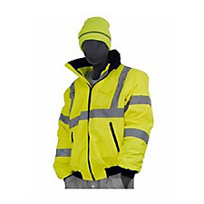 Majestic Hi Vis Jacket Waterproof with Fleece Liner
