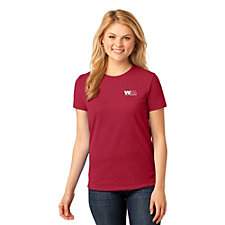 Port and Company Ladies Core Cotton T-Shirt - Embroidered - Go Red Day