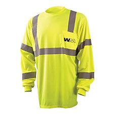 OccuNomix Long Sleeve Birdseye Pocket T-Shirt - 3.8 oz.