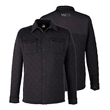 J America Adult Quilted Jersey Shirt Jacket