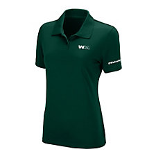 Ladies Vansport Omega Solid Mesh Tech Polo Shirt - #WeAreWM