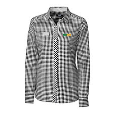 Ladies League Gingham Long Sleeve Shirt